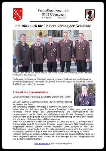 Titelseite Zeitung 2008